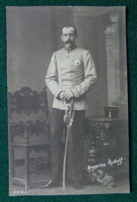 Antique Photographic Postcard Crown Prince Rudolf Austria Mayerling Suicide